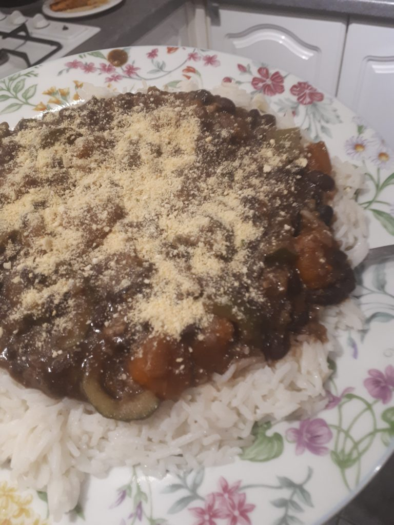 vegan feijoada on a plate
