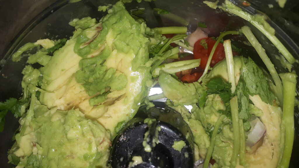 vegan guac recipe step